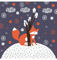 Fox Drawn Background vector image vector image