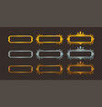 golden silver and bronze frames set vector image vector image