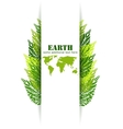 Green leaves Earth background vector image vector image