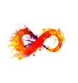 grunge infinity symbol vector image vector image