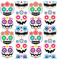 halloween and dia de los muertos skulls patterns vector image vector image