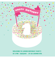 Happy Birthday and Party Invitation Card vector image vector image