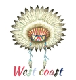Headdress of indian chief vector image