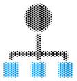 hexagon halftone hierarchy icon vector image vector image