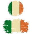 Irish round and square grunge flags vector image vector image