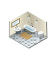 isometric bathroom set of retro vintage bath vector image vector image