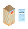 Isometric medical hospital The form of health vector image