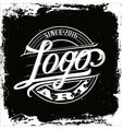 logo art vintage vector image