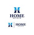 logo home estate on white background vector image