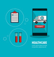 medicine online flat icons vector image vector image