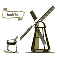 mill and flour emblems vector image vector image