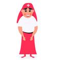 nun cartoon character on vector image vector image