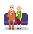 old people drinking coffee elderly persons man vector image vector image