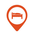 pinpoint hotel accommodation map point isolated vector image