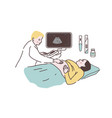 pregnancy ultrasonography a woman on a medical vector image vector image