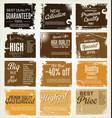 premium best choice grunge brown banner vector image vector image