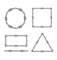 realistic 3d detailed barbed wire frames set