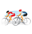 road cyclists racers vector image vector image