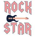 rock star fashion slogan in style vector image