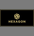 sc hexagon logo design inspiration vector image vector image
