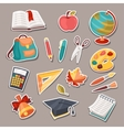 School and education icons symbols objects set vector image vector image