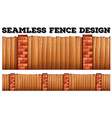 Seamless fence design with brick poles vector image