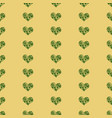 seamless pattern in the with green heart vector image vector image