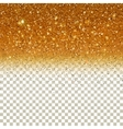 Shiny Particles on Golden background vector image vector image