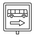 sign bus stop icon outline style vector image vector image