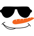 snowman face icon funny in glasses big vector image vector image