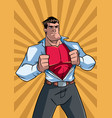 superhero under cover casual and ray light vector image vector image