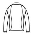 thermo clothes icon outline style vector image vector image