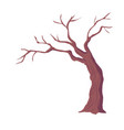 tree with naked branches dry wood without leaves vector image