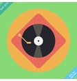 turntable player icon Flat design vector image vector image