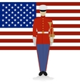 US Military Band Musician-1 vector image