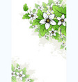 vector grunge floral background vector image vector image
