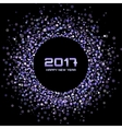 Violet New Year 2017 circle frame Background vector image vector image