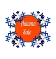 Autumn sale circle banner discount offer vector image