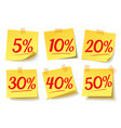 interest discounts sale on the sticker vector image
