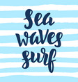 sea waves surf vector image