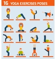 Yoga exercises icons vector image