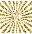 Abstract gold glitter background sparkles and vector image vector image