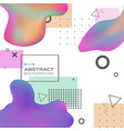 abstract of colorful fluid shape with geometric vector image vector image
