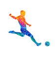 abstract professional soccer player quick shooting vector image vector image
