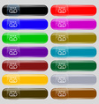 audio cassette icon sign Big set of 16 colorful vector image