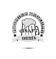 beer craft logo template design vector image