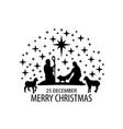 birth christ scene vector image vector image