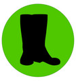 black rubber boots silhouette vector image vector image