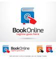 book online logo template vector image