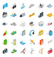 camera icons set isometric style vector image vector image